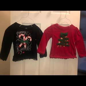 Two Christmas shirts. Like new